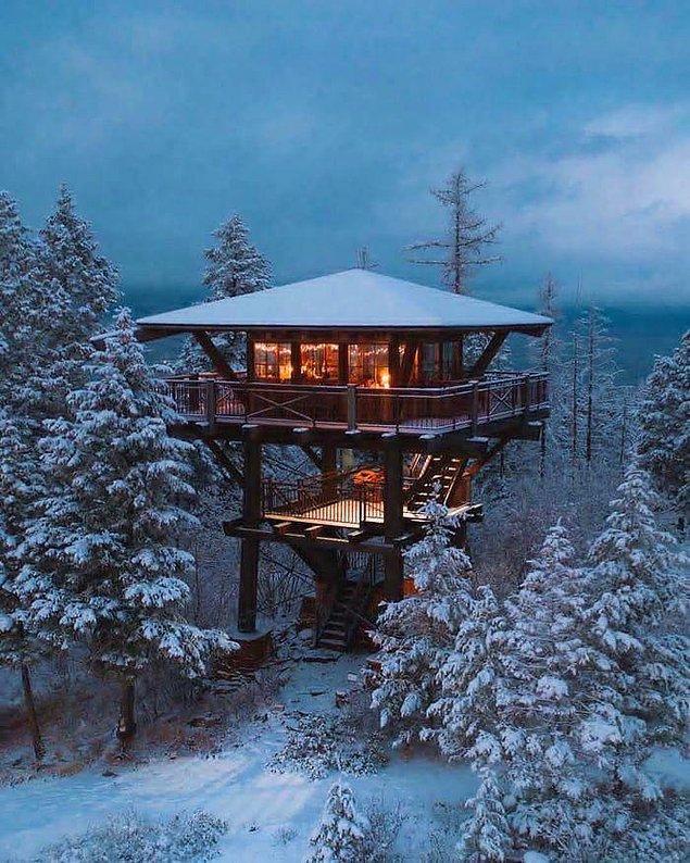 8. Kış kabini.