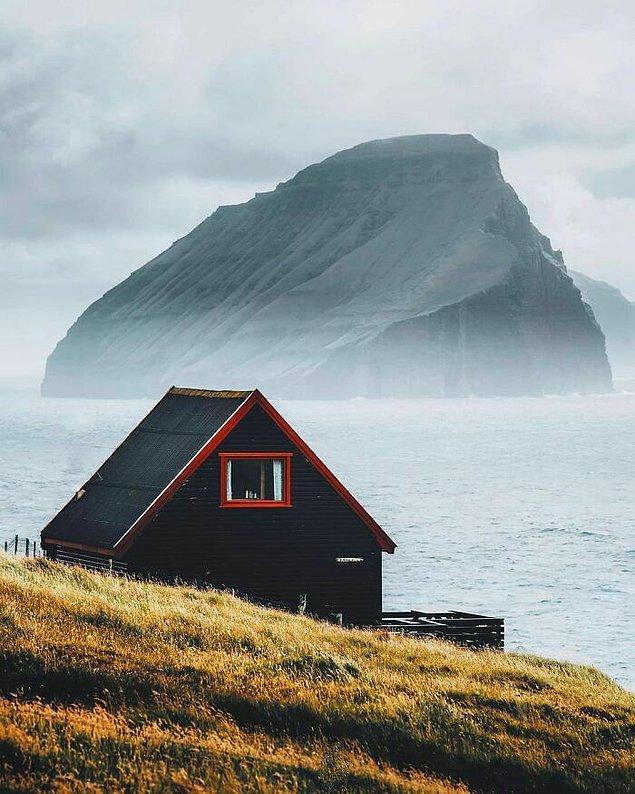 32. Faroe Adaları'ndaki bu kabin.