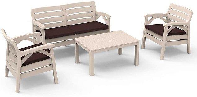 4. Bu bahçe mobilyası çok tarz ve modern görünümlü.