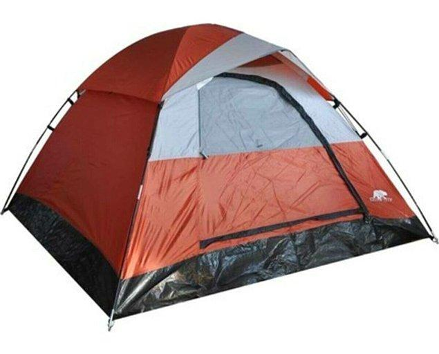 16. Dört kişilik yazlık kamp çadırı...