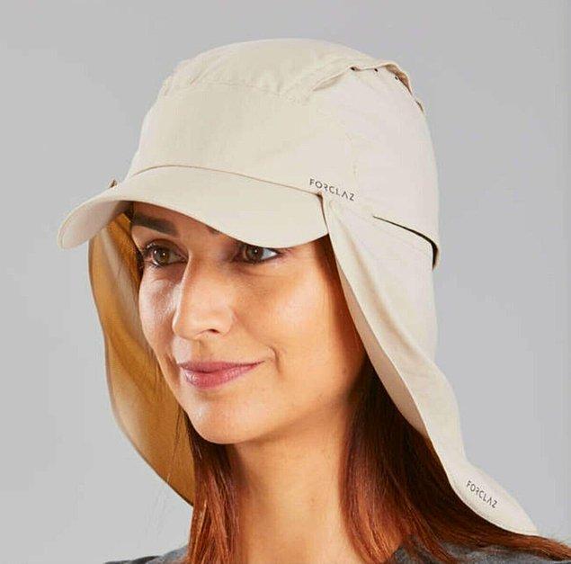 17. Bu unisex ultraviole şapka ile çölde bile güneşten korunabilirsiniz😎