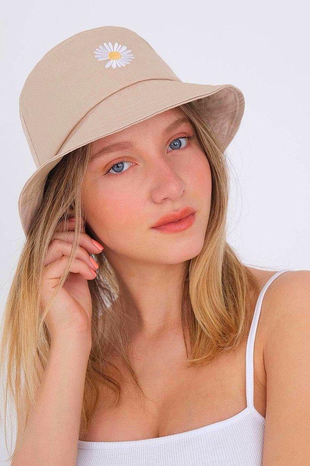 7. Bucket şapka kadın modelleri retro görünüme sahip günümüzün en trend parçası!