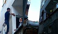 Yurttan Manzaralar: Pencerede Mahsur Kalan Hırsız, Bina Sakinlerinden Yardım İstedi