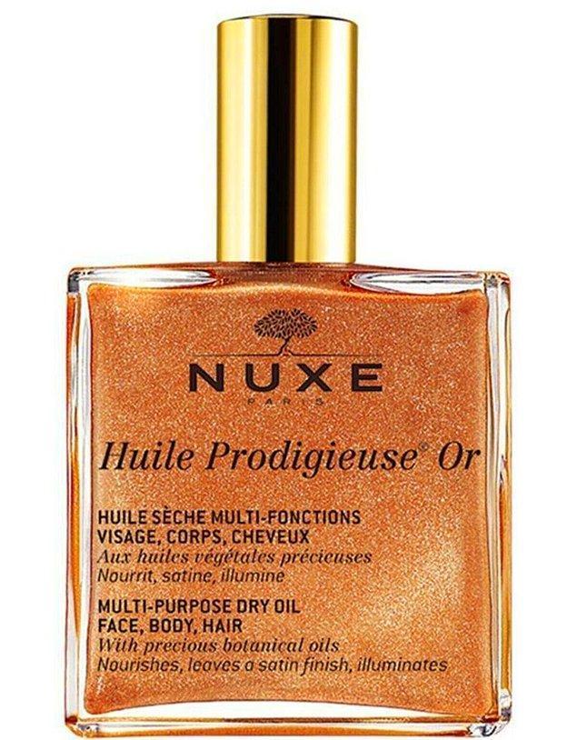 4. Nuxe'un bu çok amaçlı yağını saç, yüz ve vücut için kullanabilirsiniz.