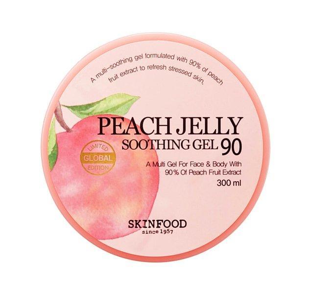 8. Skinfood Peach Jelly Soothing Gel şeftali özlü nemlendirici