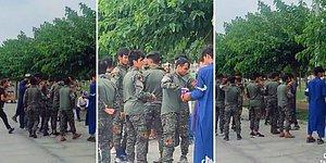 Zeytinburnu Sahilinde Asker Kıyafeti ile Grup Halinde Görülen Afganların Tepki Çeken Görüntüleri