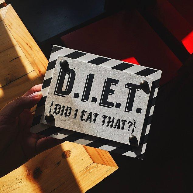Diyet yapmak hepimizi zorlayan bir süreç.