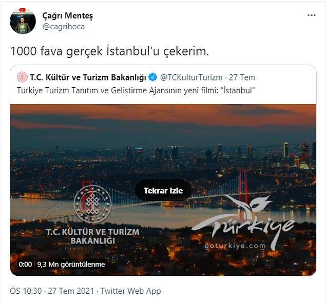 Attığı tweet 1000 favı dakikalar içinde geçerken toplamda da 60 binden fazla fav almıştı Çağrı Menteş'in...