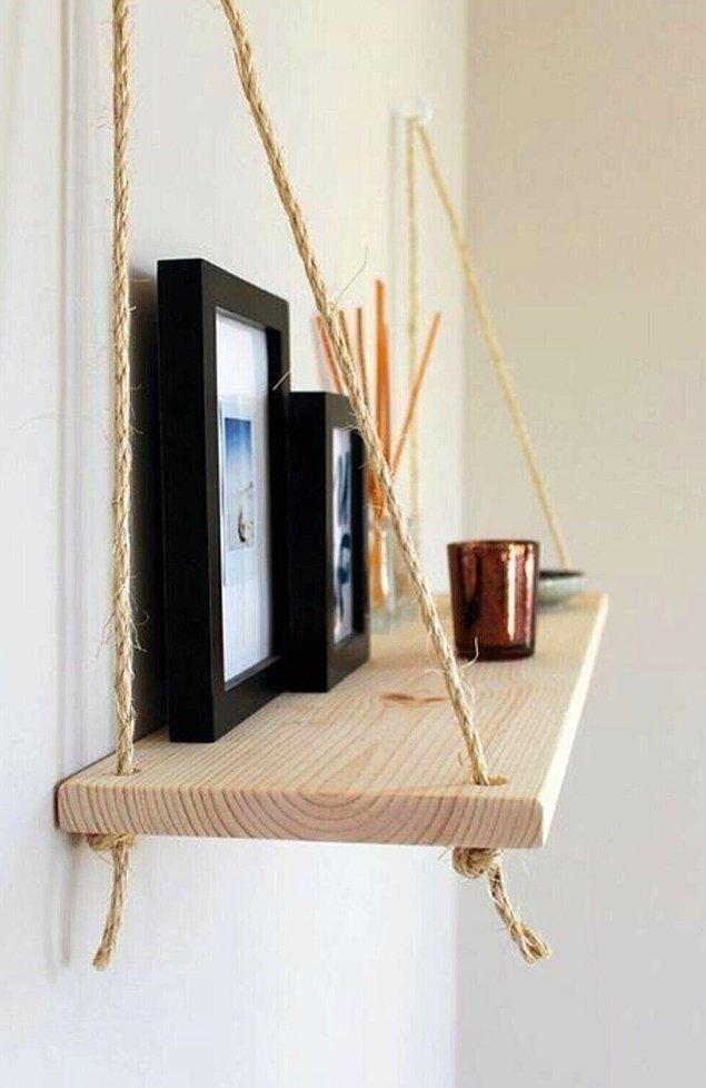 12. Evinizde küçük bir değişiklik yapmak isterseniz böyle bir duvar rafı alabilirsiniz.