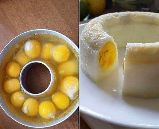7. Yumurtadan kek...