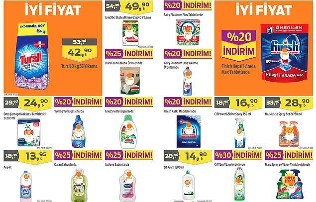Temizlik ürünleri;
