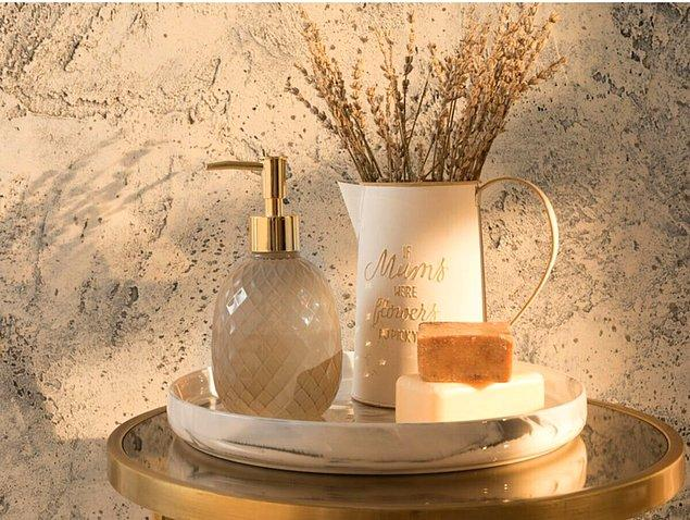 5. Banyonuzun dekorasyonuna uygun bir sabunluk şart.