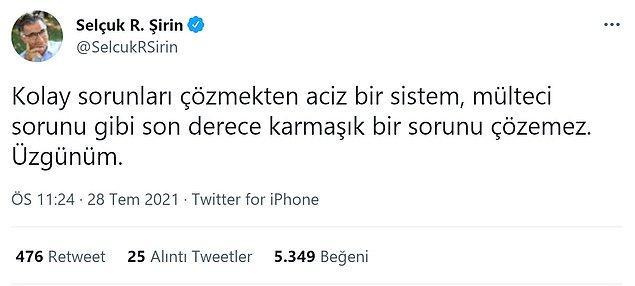 Araştırmacı Selçuk R. Şirin ise bu sorunun çözülemeyeceğini düşündüğünü Twitter hesabından paylaştı.