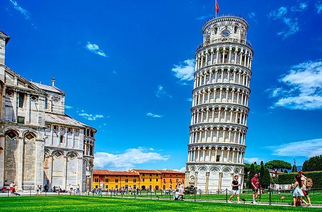 16. Eğik Pisa Kulesi hiçbir zaman düz değildi.