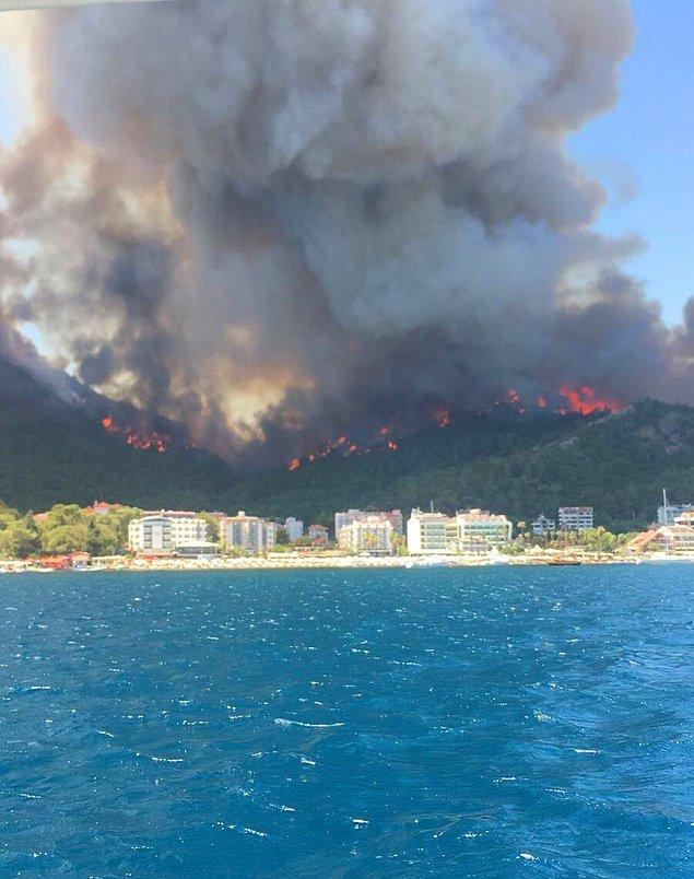 Yangın söndürme çalışmalarına İHA desteği