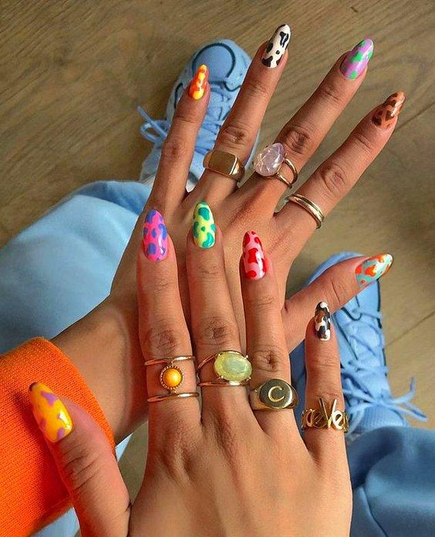 5. En sevdiğiniz desenleri renklerle bir araya getirin.