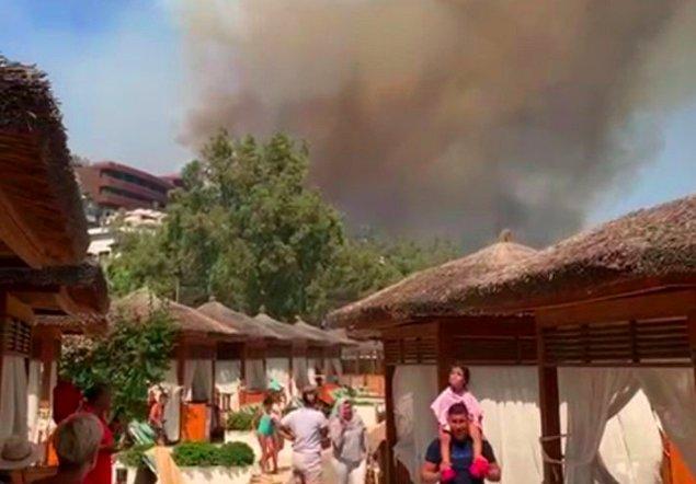Bodrum'da bir otel tahliye ediliyor