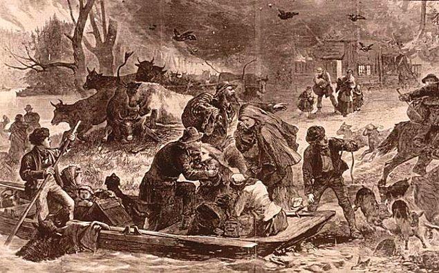 1871 Peshtigo Yangını, ABD