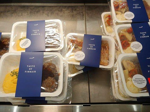 5. Finlandiya'daki bazı süpermarketlerde Finnair uçuşlarında servis edilen yemekleri bulmak mümkün.