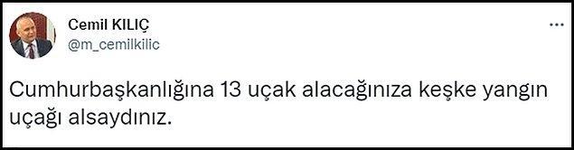 Sosyal medyada Cumhurbaşkanlığı'nın 13 uçağı konuşuluyor. 👇