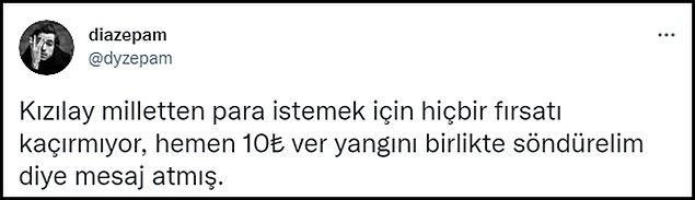 Bir süre önce vergi kaçırma iddialarıyla da gündeme gelen Kızılay'ın SMS'i sosyal medyada tepki gördü. 👇