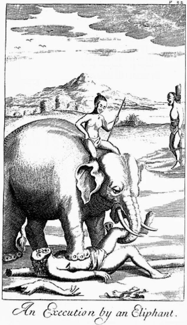 14. Eski Asya'da fil tarafından öldürülmek, oldukça popüler bir infaz şekliydi.