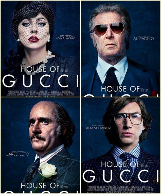 2. House of Gucci filminden karakter posterleri yayınlandı.