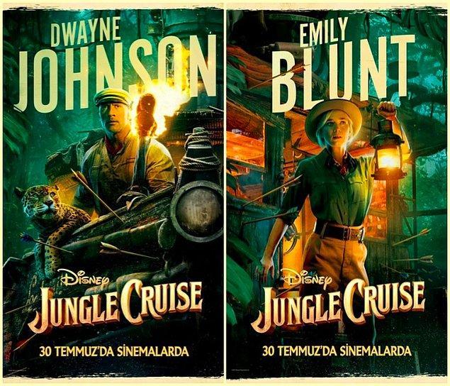 17. Dwayne Johnson ve Emily Blunt'ın başrollerinde olduğu 'Jungle Cruise'un karakter afişleri yayınlandı.