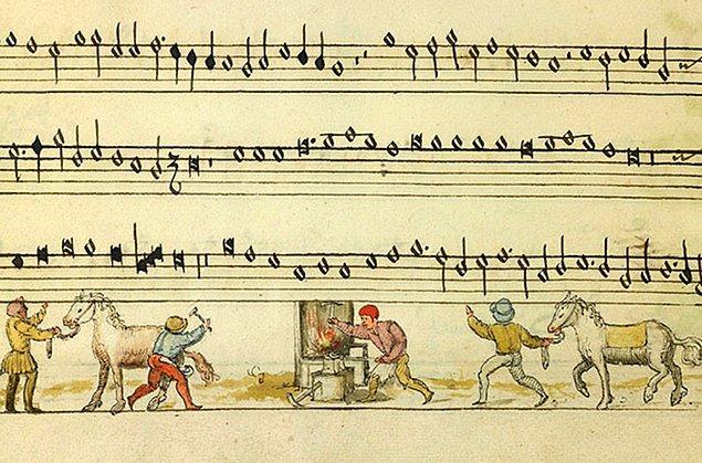 Belçika'nın Brugge kentinde yer alan bir kütüphanede bulunan Cambrai Chansonnier isimli bu müzik kitabı, içeriği ile dikkatleri üzerine çekiyor.