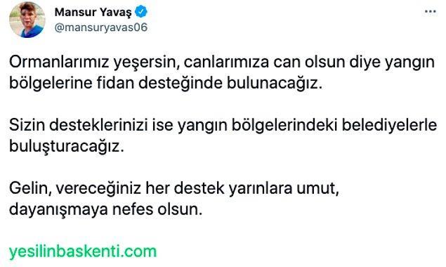 Umudumuzu ve geleceğimiz yeniden yeşertmek için tüm Türkiye seferber oluyor!