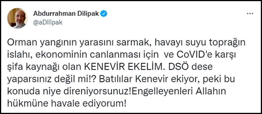 Abdurrahman Dilipak: 'Yangının Yarasını Sarmak İçin Kenevir Ekelim' -  onedio.com