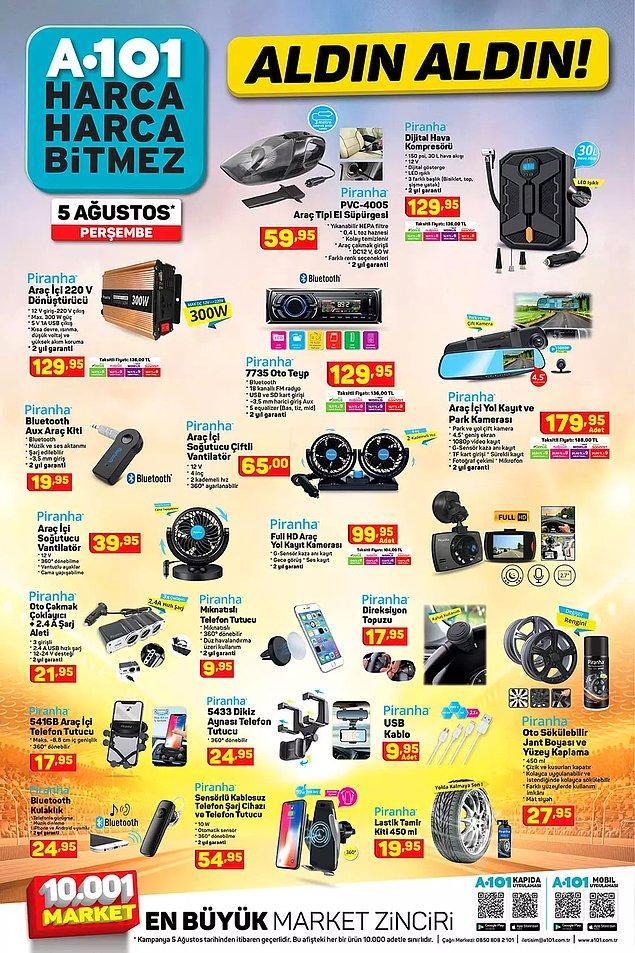 Piranha Araç İçi Full HD Yol Kayıt Kamerası 99,95 TL