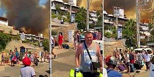 Yangının Büyüdüğü Bodrum'da Otel ve Evler Tahliye Ediliyor!