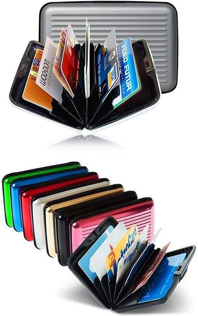 4. Alüminyum kredi kartlık cüzdan ile kartlarınızı daha düzenli saklayın...