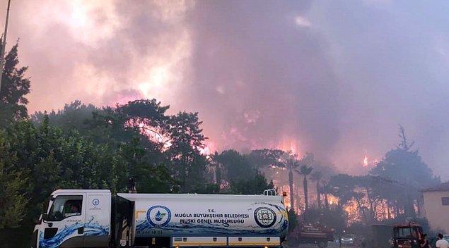 'Milas'taki yangınla ilgili bir kişi gözaltına alındı'