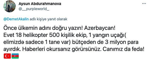 Tabii bu cevabın bu kadar sert olmasında Demet Akalın'ın Azerbaycan'ı inceden inceye eleştirmesinin de etkisi vardı.