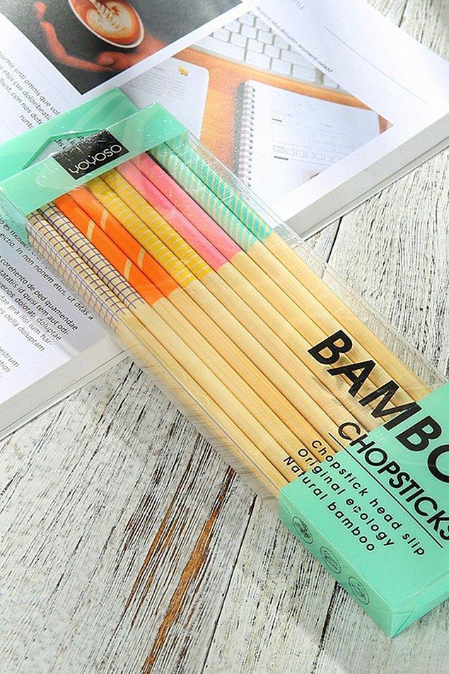 19. Yeniden kullanılabilir chopstick seti!😍