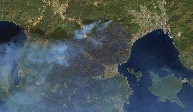 Marmaris'in Göktürk Uydusu ile uzaydan çekilmiş görüntüleri 👇
