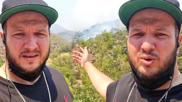 """Gökbakar, """"Kontağım olan yetkililerle iki gündür bu konuyu konuşuyorum. Sağ olsunlar çok yardımcı oluyorlar, dediğim gibi dün buraya bir helikopter geldi. Ama yeterli değil. Buranın acilen müdahale edilmesi gerekiyor. Şu an buraya helikopterle su atılmadığı taktirde bu ağaçları da yakarak gelecek (Marmaris'ten gelip Selimiye'ye giden yol) ve buraları da yakacak. Buraların arkasında da yerleşim alanları var"""" demişti."""