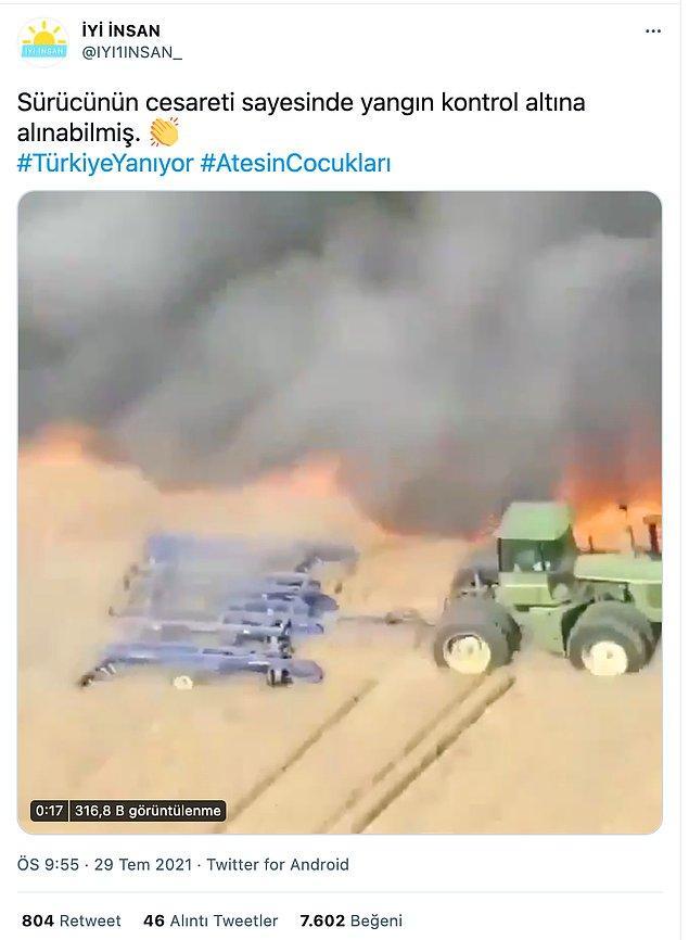 2. Bir diğer doğru olmadığı ispatlanan haber ise videonun Türkiye'deki yangını göstermesi oldu.