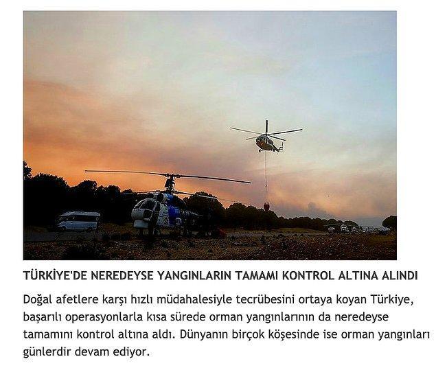 A Haber, Türkiye'nin bu başarısı ile diğer tüm ülkelere örnek olduğunu da paylaştı...