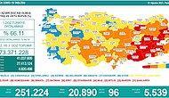 Koronavirüs Türkiye: 20 Bin 890 Yeni Vaka, 96 Ölüm...