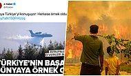 'Türkiye'nin Yangınla Hızlı Mücadelesi' ile Dünyaya Örnek Olduğunu Düşünen A Haber Sosyal Medyanın Gündeminde