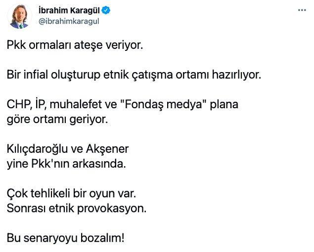 Bu isimlerin arasında ise Kemal Kılıçdaroğlu ve Meral Akşener'in olduğunu söyledi.