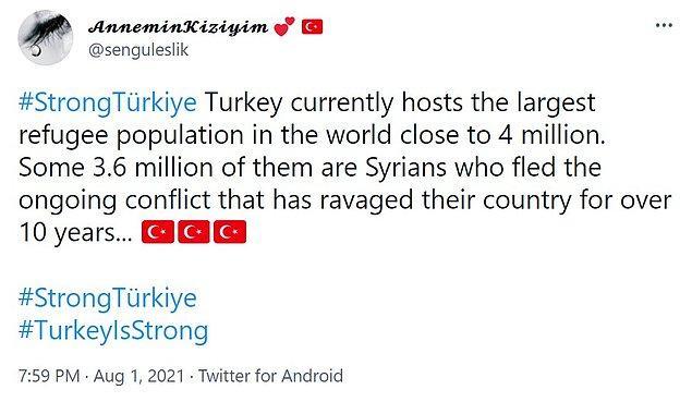 İnsanlar Türkiye'nin yardıma ihtiyacının olmadığını, dünyanın en kalabalık mülteci grubuna ev sahipliği yaptığımızı ve yardım çağrısında bulunanların yalancı olduğunu ifade etmeye başladılar.