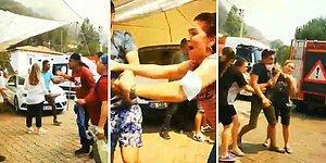 Yalan Haber Yapmakla Suçladıkları TRT Haber Ekibine Saldıran Yangın Mağduru Vatandaşlar