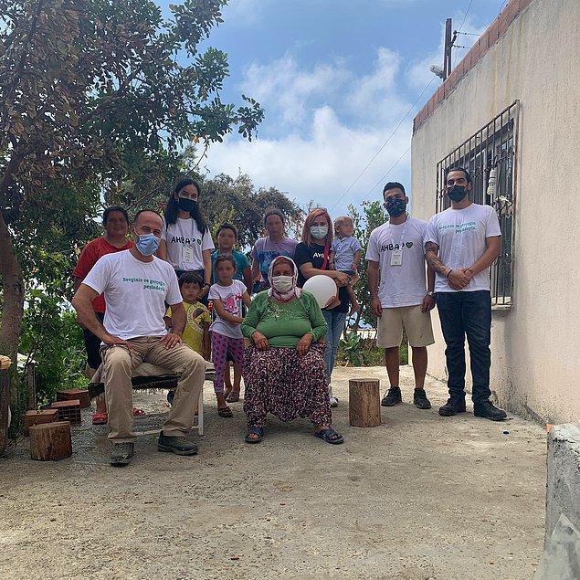 Yangın bölgelerinde bulunan AHBAP gönüllüleri AFAD ile birlikte günlerdir çalışıyor.