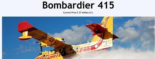 Bu uçakların bir tanesi ise yaklaşık 37 milyon dolar değerinde.