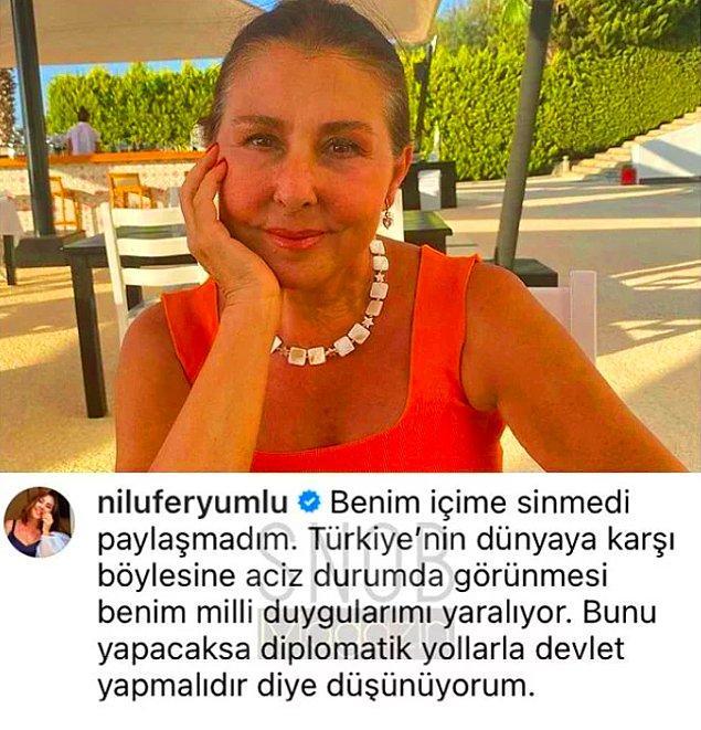 Tüm ünlüler aynı paylaşımı yaparken, Nilüfer, Lara, Nejat İşler ve Nilgün Belgün gibi isimler desteklemediklerini açıkça belirttiler.