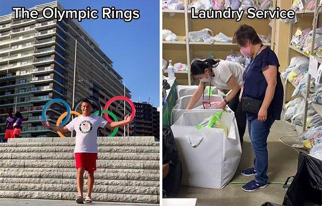 Tur, Olimpiyat halkalarının ve çamaşırhane hizmetinin gösterilmesiyle devam ediyor.